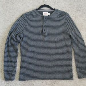 Brooks Brothers Slim Fit Striped Cotton Henley